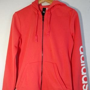 Adidas Women's Hoodie, Real coral/white, size S/P